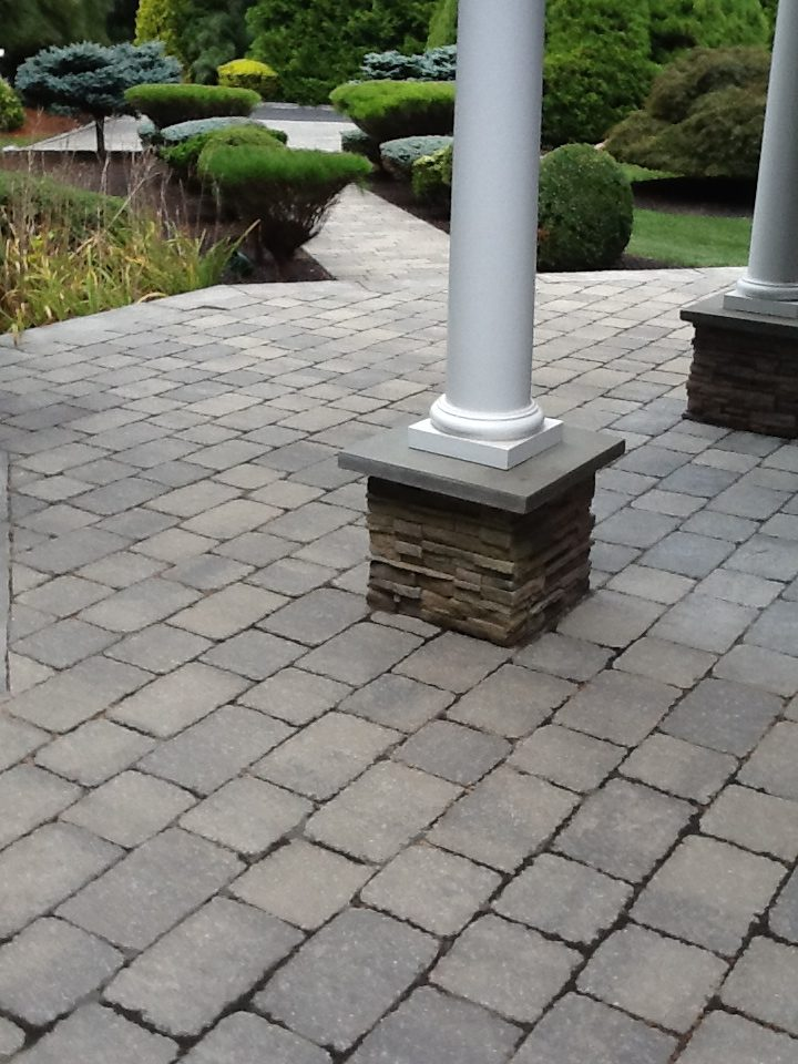 Paver Patio and Pillar