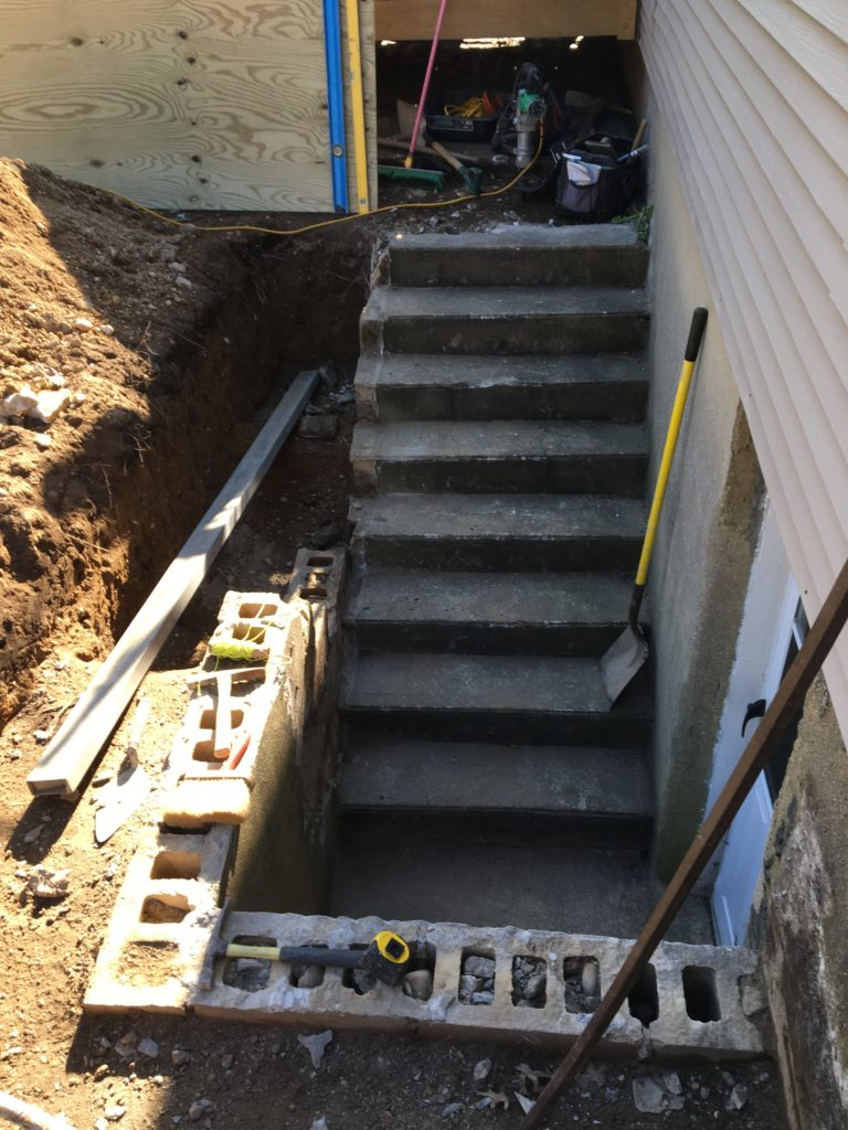 Outside Basement Entrance