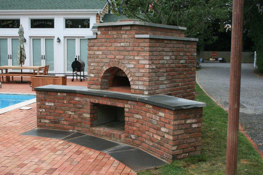 Outdoor Brick Fireplace and Oven