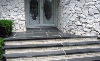Stone Stoop with Steps